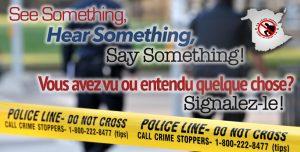 Crime Stoppers Month - Mois d'Échec au crime